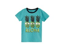 Toddlers Pineapple Graphic-Print T-Shirt, Aqua Confetti