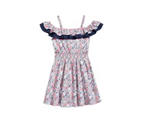 Epic Threads Girls Butterfly-Print Dress, Pewter Heather