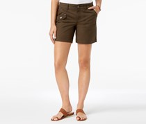Style & Co Petite Flap-Pocket Shorts, Deep Moss