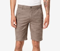 INC International Concepts Mens Flat-Front Texture-Stripe Shorts, Warm Taupe