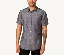 I.n.c. Men's Solid Pocket Shirt, Deep Black