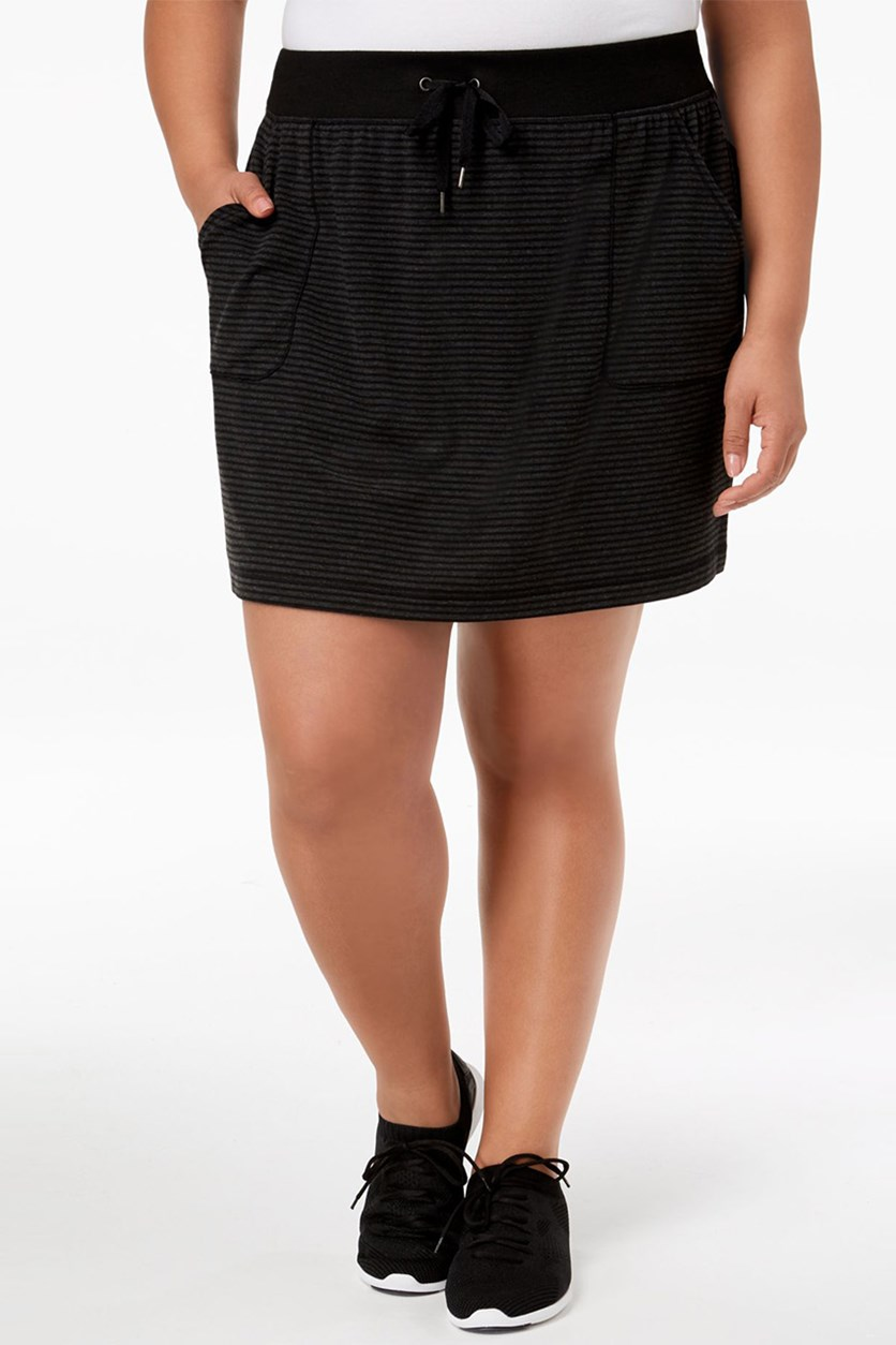 Women's Plus Size Active Mini Skirt, Noir