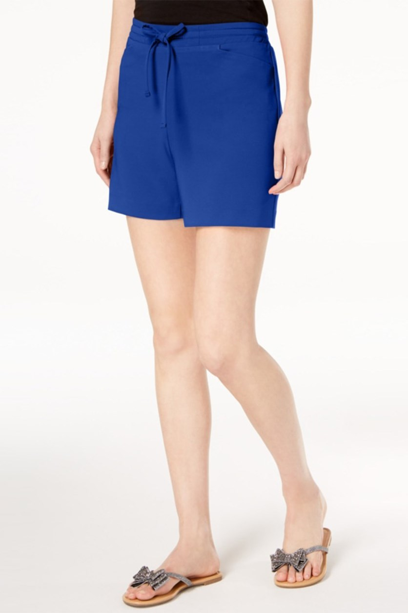Women Drawstring-Waist Shorts, Bright Blue