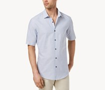Alfani Men's Striped Shirt, Dark Blue Bold