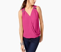 International Concepts Faux-Wrap Hardware Top, Intense Pink