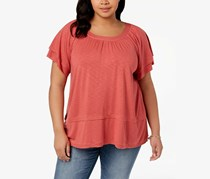 Style & Co Plus Size Flutter-Sleeve Swing Top, Pimpernel