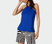 International Concepts Halter Top With Hardware, Bright Blue