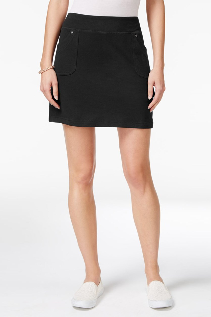 Style Co Pocketed Skort, Deep Black