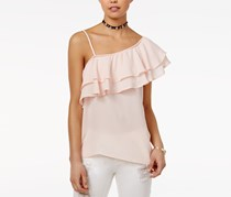 Seven Sisters Women's One-Shoulder Top, Blush Rose