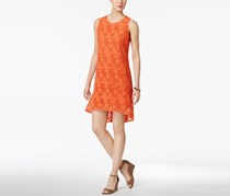 Nine West Floral Current High-Low Shift Dress, Tango