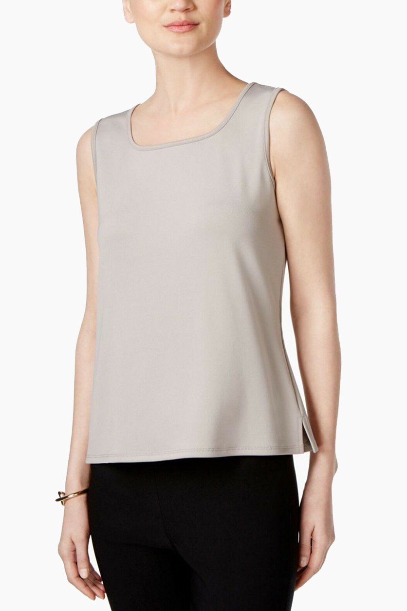 Women's Square-Neck Shell Top, Clay