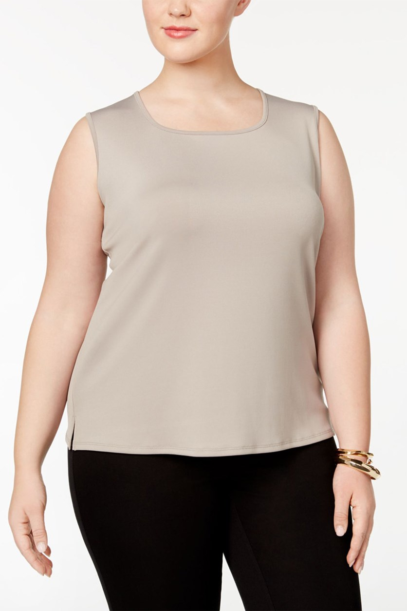 Plus Size Pullover Tank, Clay