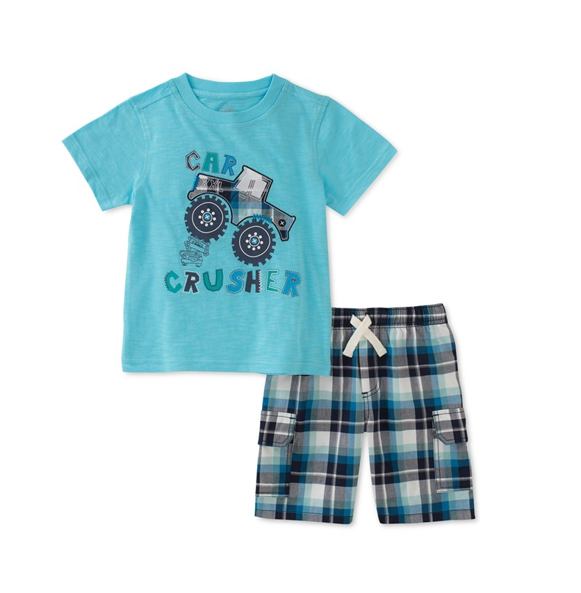 Baby Boys 2-Pc.Graphic-Print T-Shirt & Shorts Set, Turquoise