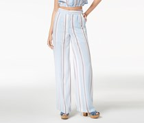 The Edit By Seventeen Juniors Striped Wide-Leg Pant, Blue/White