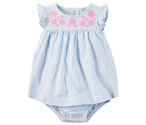 Carter's Girl's One Piece Swim Suit, Blue/Pink/White