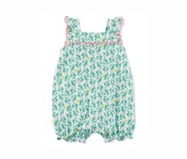 Carter's Sleeveless Romper, Green/Pink