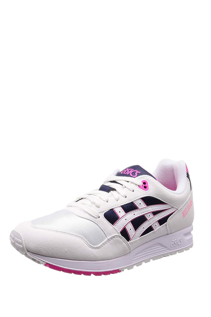 Men's Gel Saga Shoes, White/Pink Glo