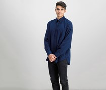 GAP Men's Long Sleeve Shirt, Navy