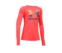 Under Armour UA Tech Logo-Print T-Shirt, Marathon Red