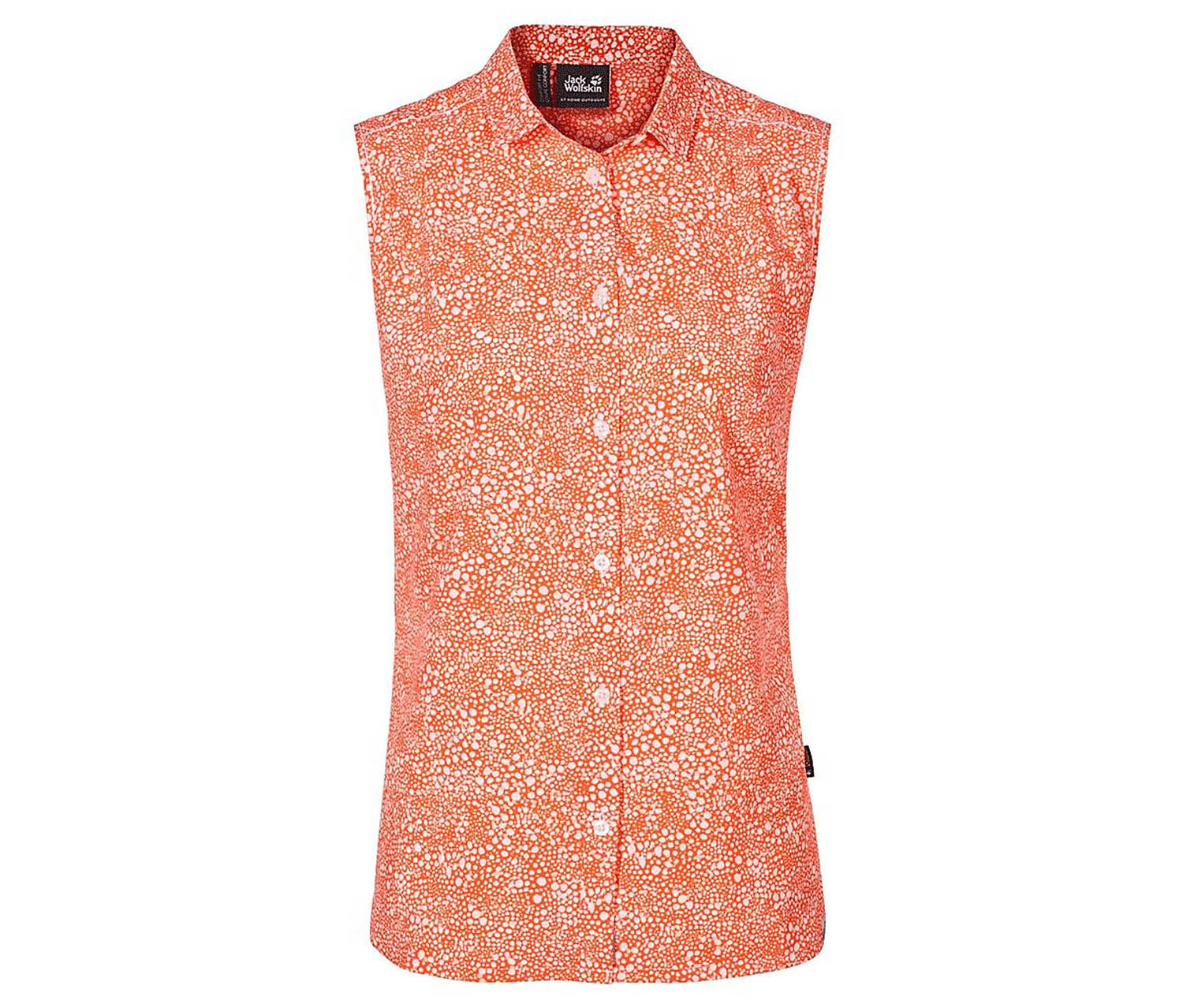 Jack Wolfskin Women's Print Sleeveless Shirt, Orange