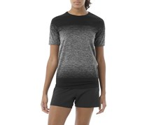 Asics Women's Fuzex Seamless Short Sleeve Performance Tops, Black