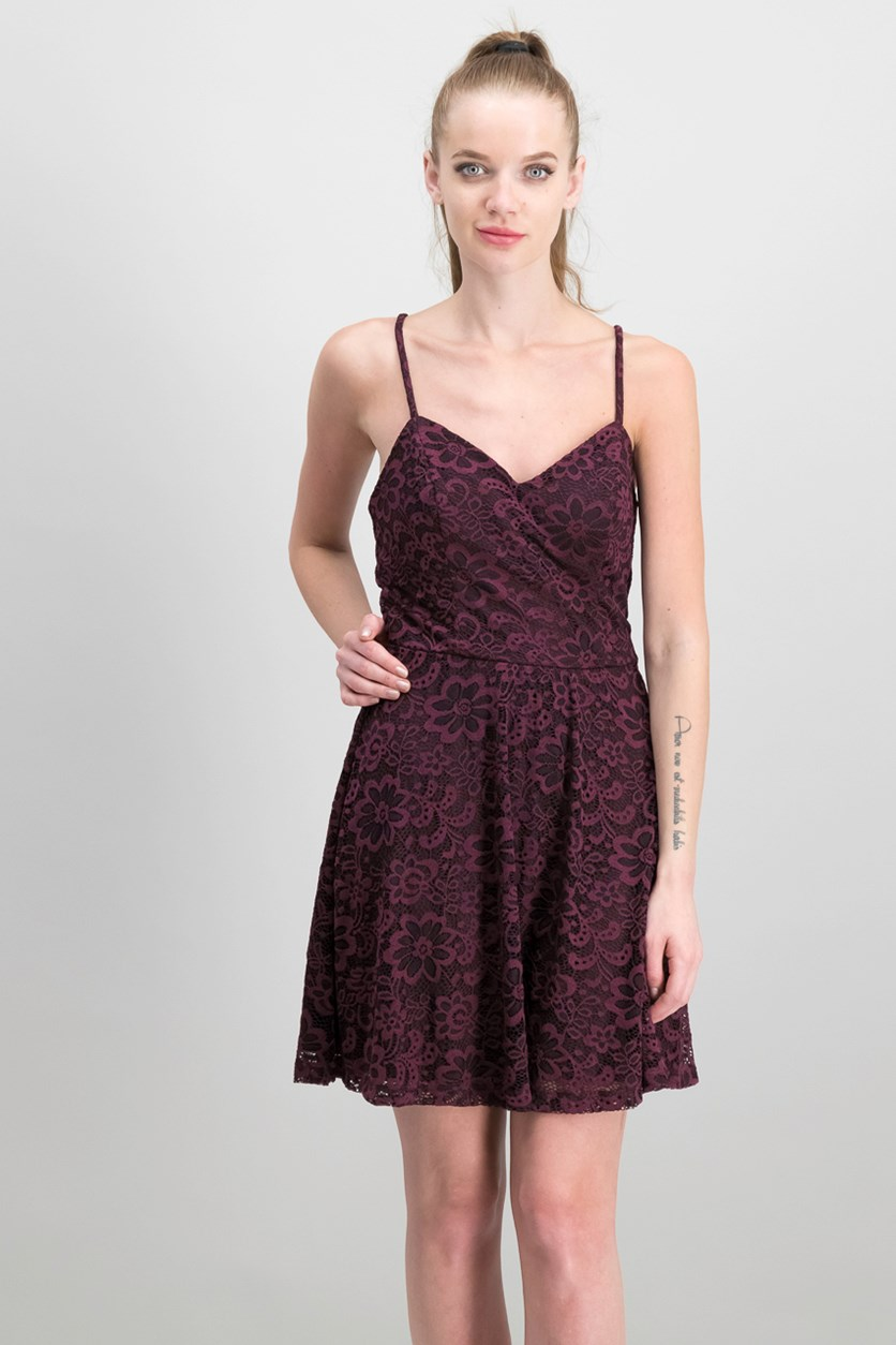 Women's Lace Dress, Maroon