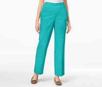 Alfred Dunner Scottsdale Pull-On Straight-Leg Pants, Turquoise