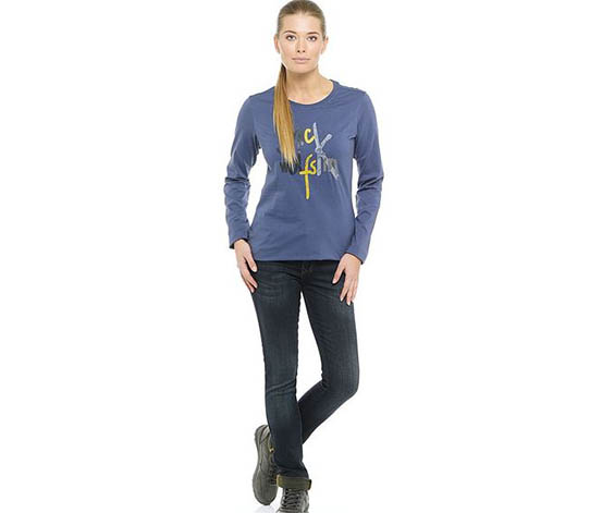 Jack Wolfskin Women's Sport Long Sleeve T-shirt, Blue Indigo