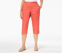 Alfred Dunner Parrot Cay Pull-On Capri Pants, Coral