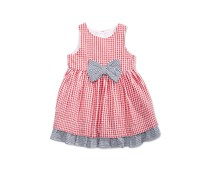 Marmellata Gingham Cotton Sundress, Red/White
