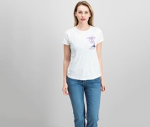 Lucky Brand Embroidered Palm Tree T-Shirt, Lucky White
