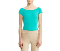 Ralph Lauren Off-The-Shoulder T-Shirt, Tropic Turquoise