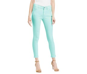 Ralph Lauren Women's Cropped Colored Skinny Jeans, Green