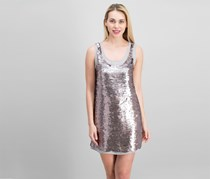 Paper Crown Women's Textured Metallic Dress, Bronze