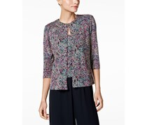 Alex Evenings Petite Glitter Jacquard Jacket & Shell Top, Beige Combo