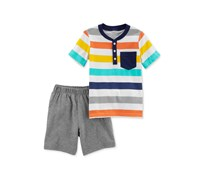 Carters 2-Pc. Cotton Striped Henley T-Shirt, Combo