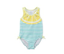 Carters Baby Girls Lemon-Print Swimsuit, Yellow/White Combo