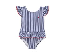 Carter's Baby Girls Stripe One Piece Swimsuit, Navy/White