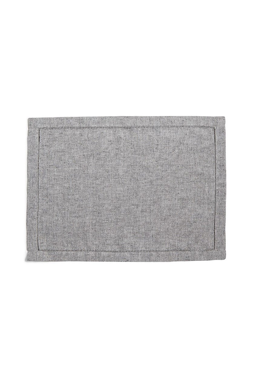 Collection Heirloom Placemat, Black Chambray