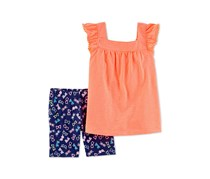 Carter's Summer Sunglasses Shorts Set, Orange/Navy
