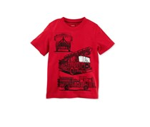 Carters Graphic-Print Cotton T-Shirt, Red