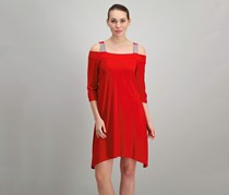 MSK Short Cold Shoulder Dress, Red