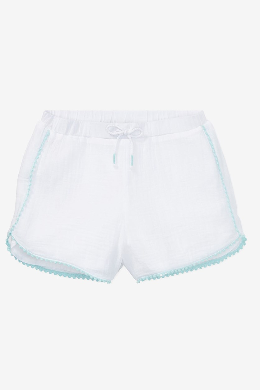 Polo Ralph Lauren Trimmed Cotton Shorts, Spring White