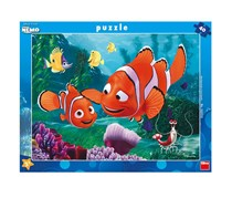 Dino Toys Finding Nemo Motif Desk Jigsaws Puzzle with Frame, Blue Combo