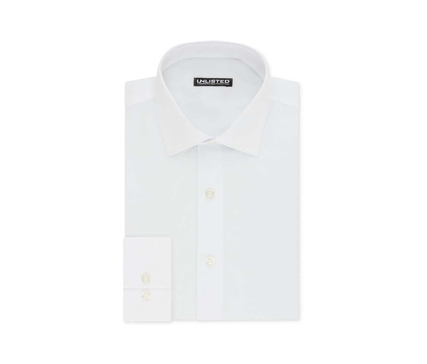 by Kenneth Cole Men's Slim-Fit Chambray Dress Shirt, White