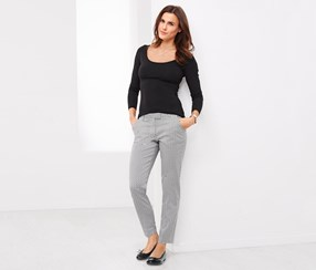 Women's Sigaret Pants, Black/White