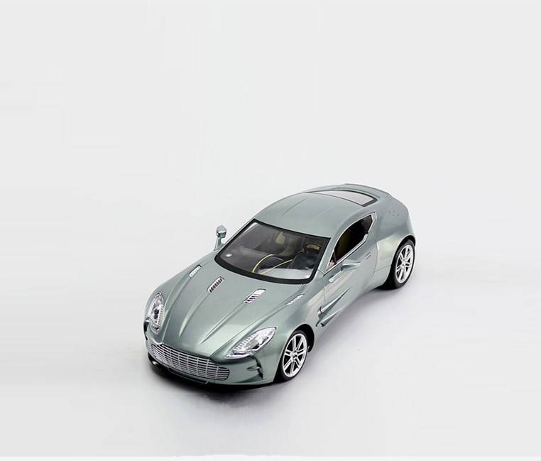 Aston Martin Rechargeable Remote Control Car, Light Grey