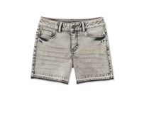 Calvin Klein Released Hem Denim Shorts, Grey Wash