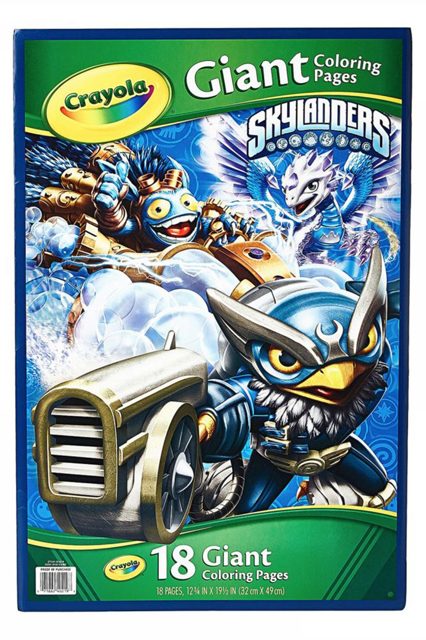 Skylanders Giant Coloring Page, Green/Blue