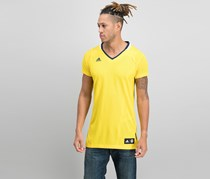 Adidas Alba Short Sleeve T-Shirt, Yellow/Navy